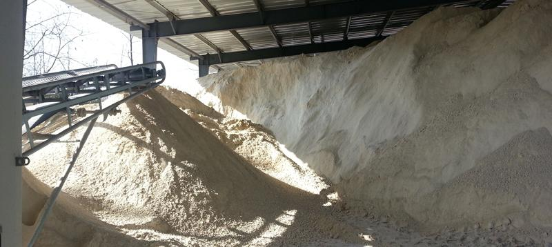 sand washing plant with annual output of 100,000 tons