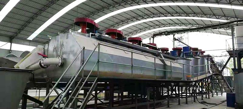 sand washing plant for 80ppm high purity glass sand in China