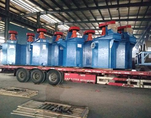 A batch of sand washing machines is ready to send to Ethiopia.